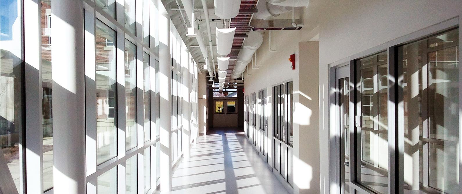 The Innovation Hub hallway